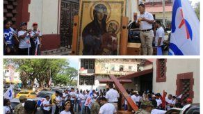 Delegación de la JMJ participó en desfiles de fiestas patrias en Colón