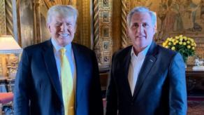 Trump se reúne con líder republicano en el Congreso y recupera fuerzas