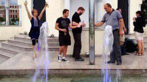 Una fuente de vodka  se convierte en un gran atractivo de Batumi