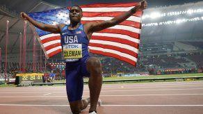 Campeón mundial Coleman suspendido 2 años