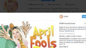 El polémico cambio de imagen de Thalía es falso