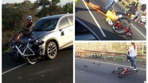 Accidente de tránsito deja varios ciclistas heridos en la autopista Arraiján-La Chorrera