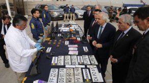 Operativo policial en Chile deja 25 detenidos y 125 autos robados recuperados