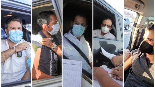 Ministros y directores de entidades acudieron a inmunizarse contra COVID-19 con la vacuna de AstraZeneca.