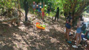 Detienen 10 personas que estaban en un río en Pacora