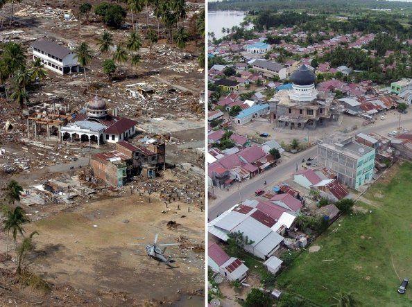 India: antes y después del tsunami del 2004