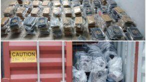 Autoridades incautan 316 paquetes de drogas en contenedor con destino a Bélgica