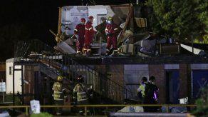 Un probable tornado destruye un motel en Oklahoma