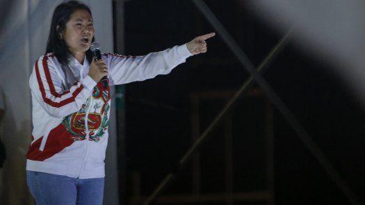 La candidata derechista Keiko Fujimori.