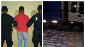 Decomisan 350 paquetes de presunta droga dentro de camión en Guabalá