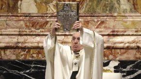 Papa oficia misa de Jueves Santo