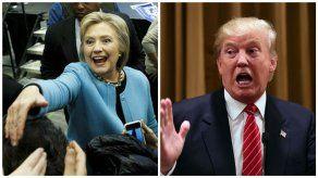 Trump y Clinton salen al frente en el supermartes