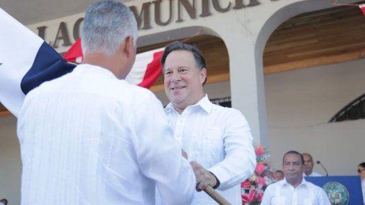 Varela abandera a ministro de la Presidencia en actos protocolares en Boquete