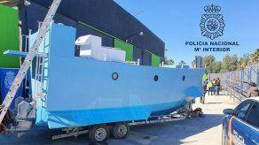 Incautan narcosubmarino en construcción en costa española