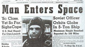Yuri Gagarín, de Rusia, fue el primer hombre en viajar al espacio.