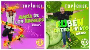María De Los Ángeles y Rubén Ortega son los jurados de Top Chef Jr