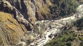 India: 3 muertos tras colapso de glaciar e inundaciones
