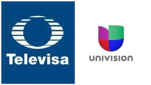Combinación de logos de Televisa y Univision.