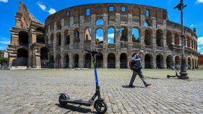Las patinetas elécricas invaden el centro de Roma