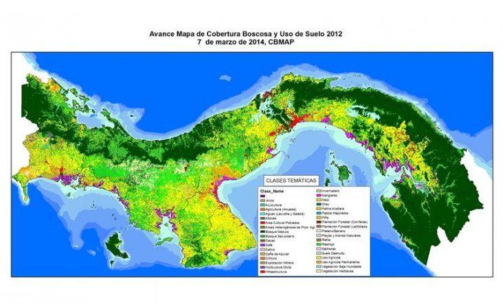 Panamá presenta nuevo mapa nacional de cobertura boscosa y uso de la tierra