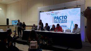 Dos candidatos a Presidente y dos a Vicepresidente firman pacto de Estado por la Salud