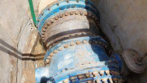 Una falla en una tubería de 66 provocó que se redujera la producción de agua en la potabilizadora de Chilibre.