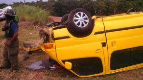 Dos heridos tras accidente en autopista Arraiján-La Chorrera