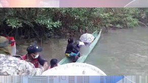 Rescatan a 9 personas de una embarcación que naufragó en Darién