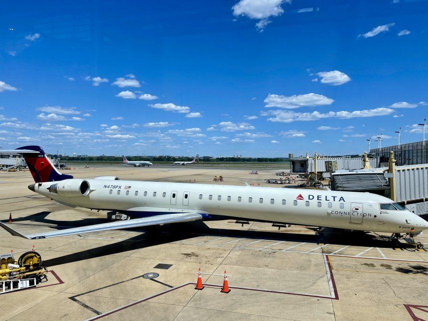 El avión de la compañía Delta Air