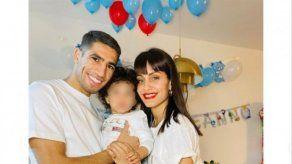 Hiba Abouk y Achraf Hakimi celebran el primer cumpleaños de su pequeño Amín