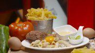 Receta: Pollo frito con pasta carbonara