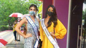 Señorita Panamá y Miss Colombia se reúnen por primera vez