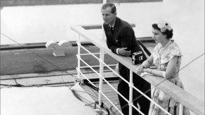 La reina Isabel II y el príncipe Felipe en Panamá