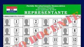 PRD realizará elecciones parciales el 11 de noviembre en cuatro corregimientos