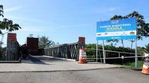 Construcción del puente binacional sobre el río Sixaola tiene un 36% de avance