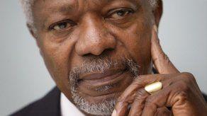 Cancillería lamenta pérdida del pacificador Kofi Annan