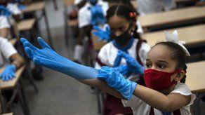 Los niños vuelven a las clases presenciales en La Habana