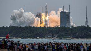 Los chinos utilizaron el cohete Long March 5B para lanzar parte de su estación espacial la semana pasada.