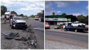 Colisión múltiple en Boquerón deja nueve personas heridas